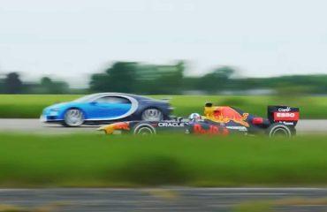 Bugatti Chiron, Redbull'un Formula 1 aracıyla yarışıyor!