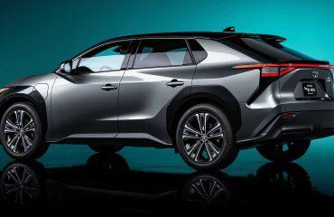 Toyota bZ4x konseptine ait resmi basın görseli.