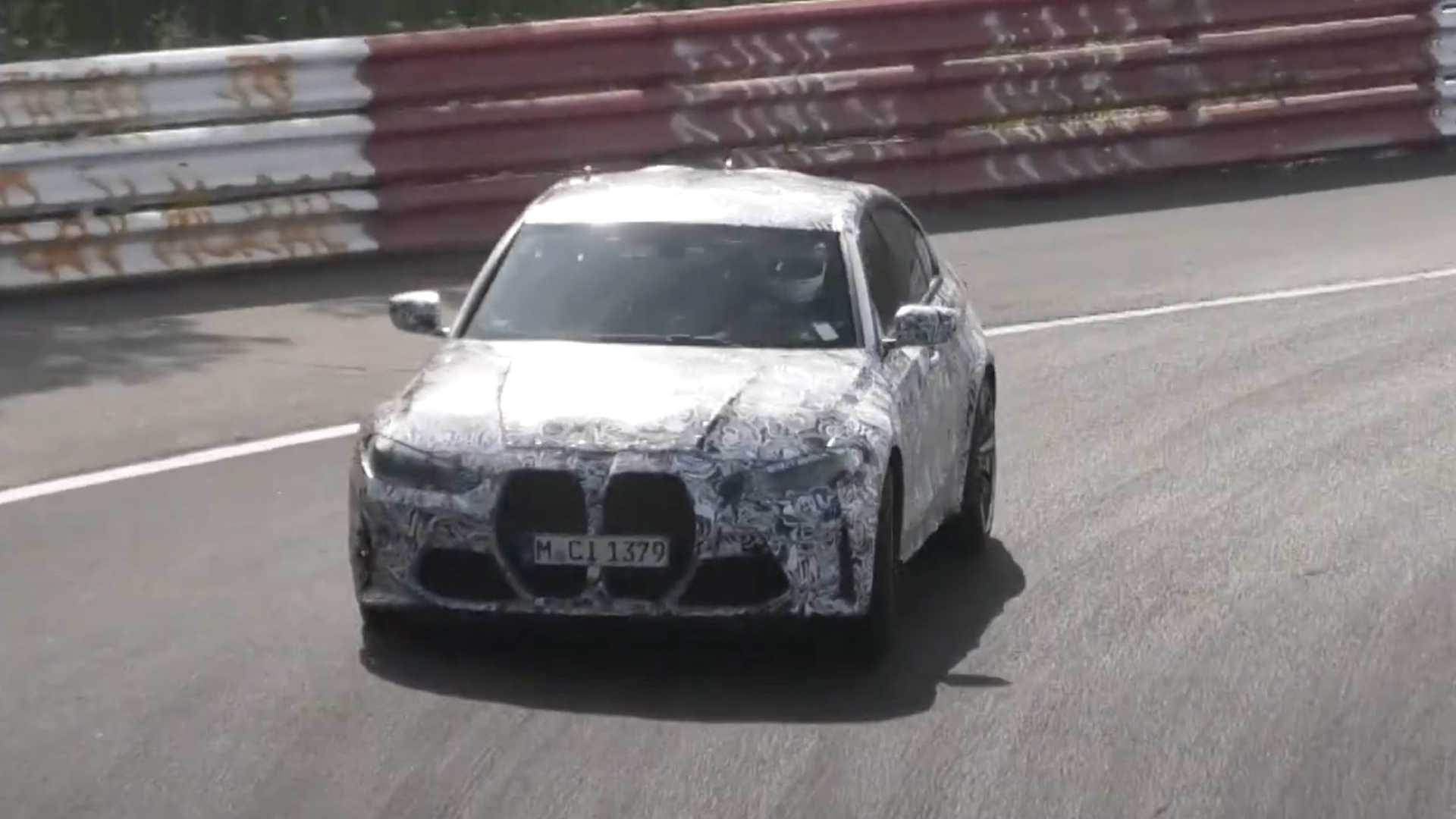 Yeni BMW M3 CS daha az kamuflajla Nürburgring'de