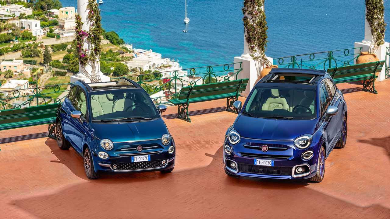 Fiat 500X ve 500C'nin katlanabilir kumaş tavanlı Yachting versiyonları