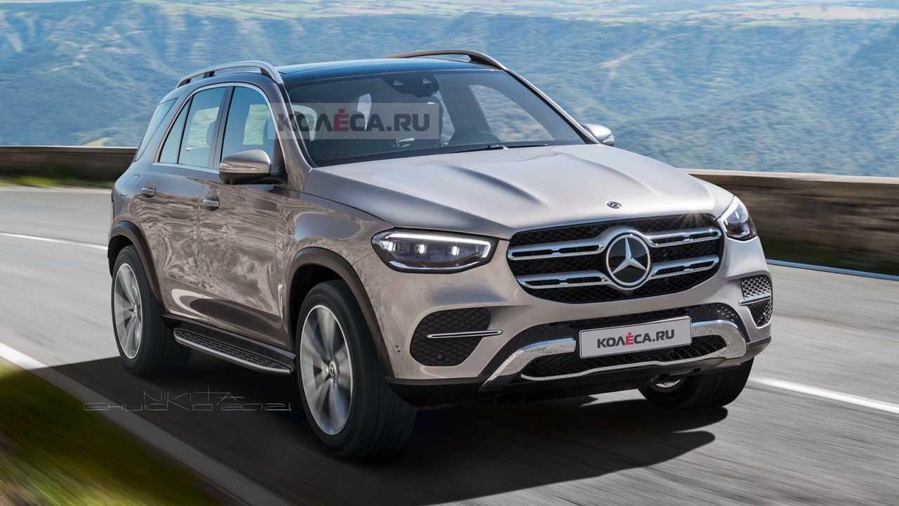 Makyajlı Mercedes-Benz GLE-Serisi'ni konu alan dijital tasarım çalışması.