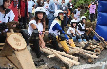 Rize'de'formulaz' tahta araba yarışları heyecanı