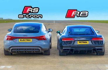 Audi RS E-Tron GT ile R8 yarışıyor!
