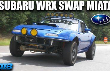 Subaru WRX'e dönüştürülmüş Miata hayallerinizi süsleyecek