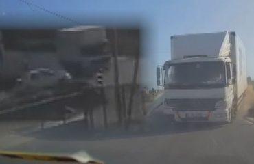 Otomobille kamyon çarpıştı: 4 yaralı