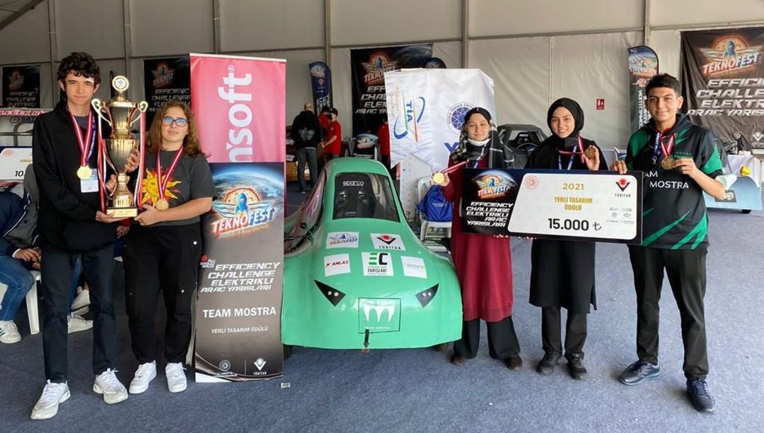 Liseli 5 mucidin ödüllü Mostra'sı Teknofest'tegörücüye çıktı