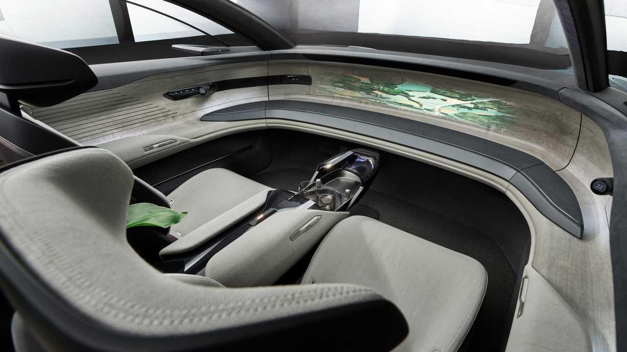 Audi Grandsphere Konsepti'nin içinden bir kare.
