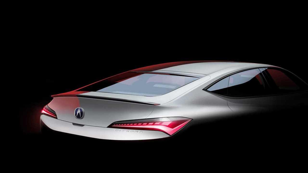 Acura Integra 2022 ipucu (teaser) görüntüsü