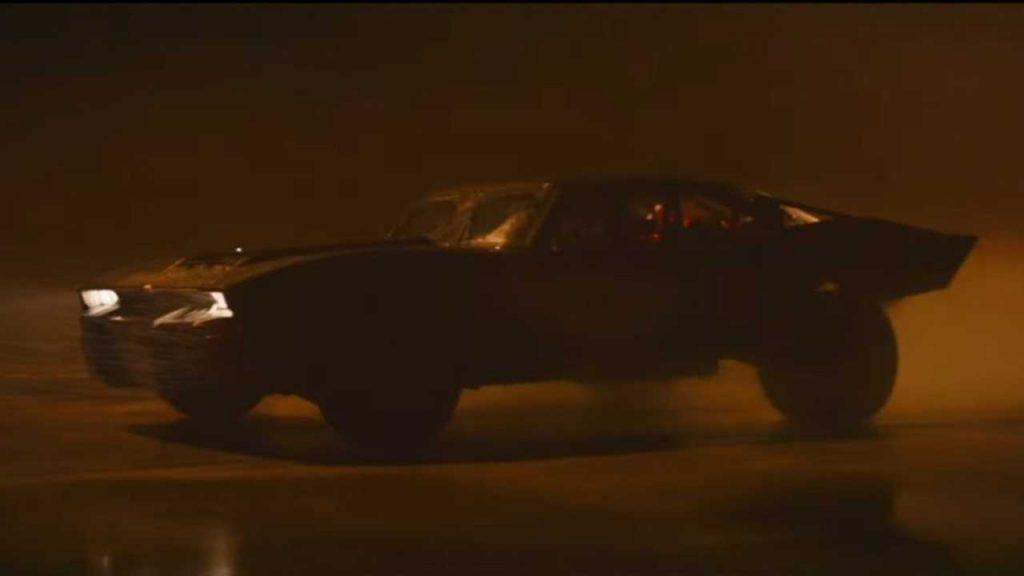 Yeni Batmobile görüntüsü.