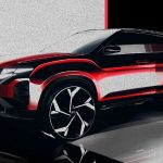 Makyajlı 2022 Hyundai Creta eskiz çizimi