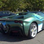 Yeşil Ferrari SF90 Stradale prototipi bir kez daha yakalandı